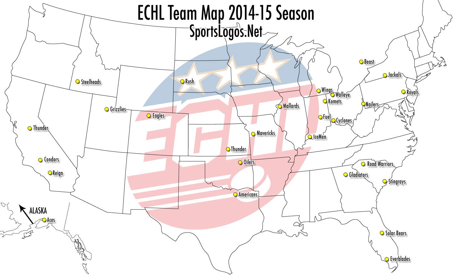 ECHL-Team-Map-2014-2015