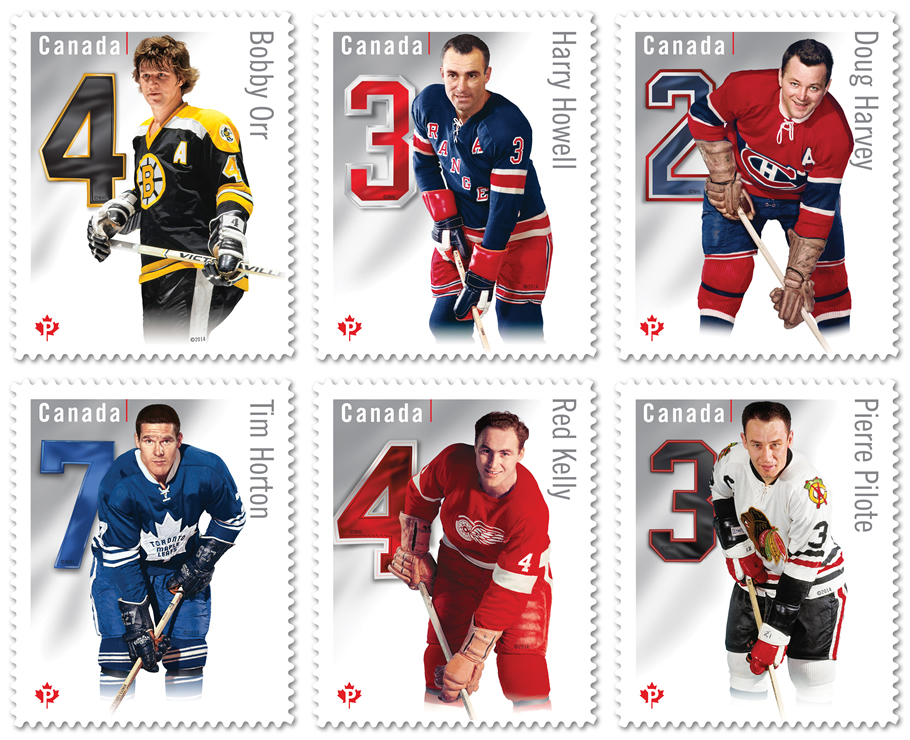 original six stamps
