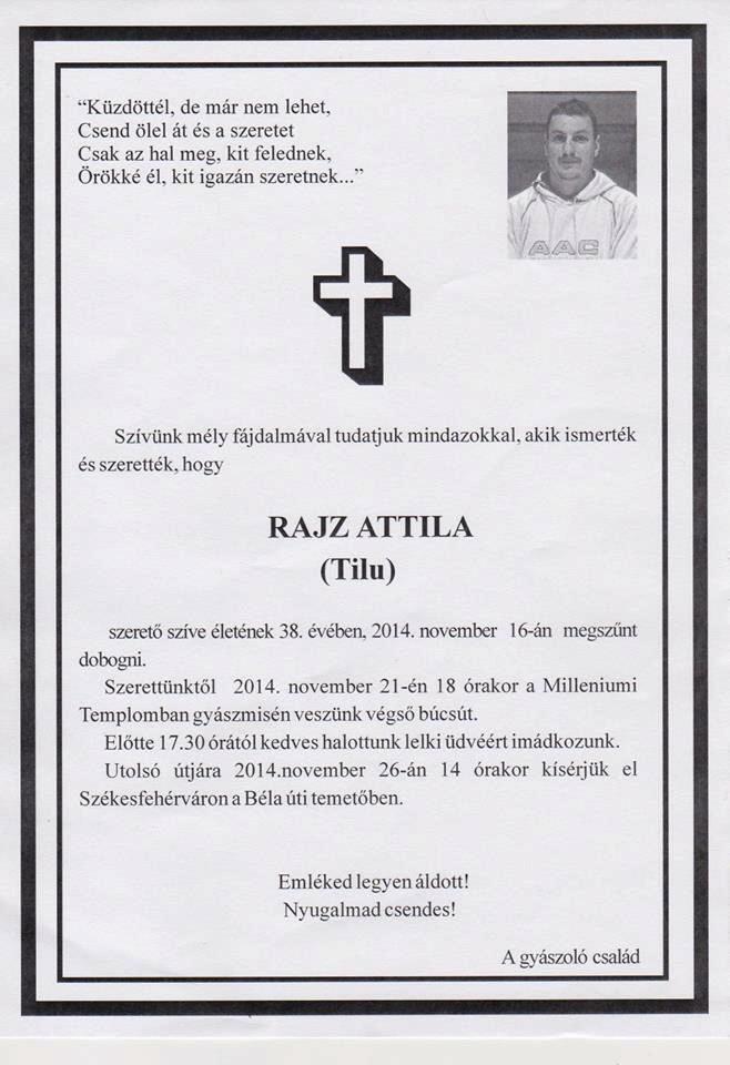 Rajz Attila temetes