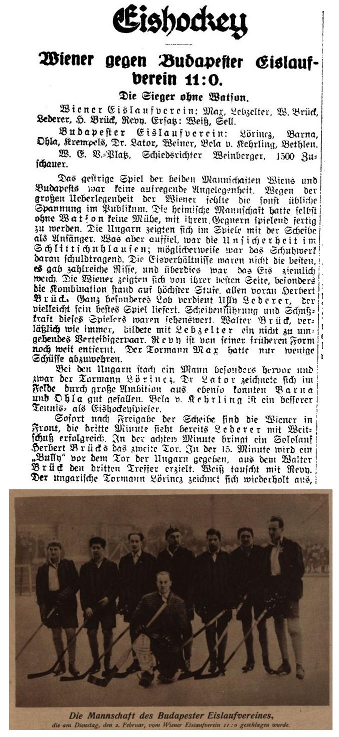 bke 1926 osztrák cikk