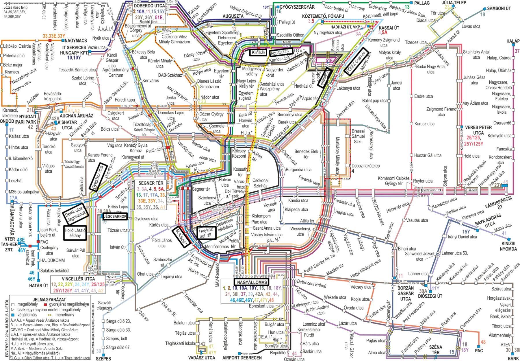 Debrecen Busz Térkép