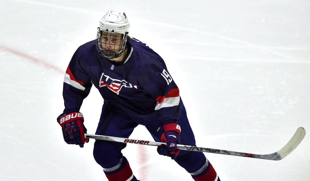 Auston Matthews USA USA Tschechien U18 Weltmeisterschaft Eishockey 23 04 2015 PUBLICATIONxNOT