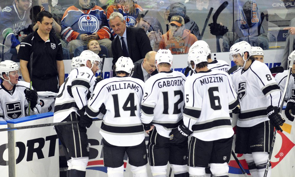 USP NHL: LOS ANGELES KINGS AT EDMONTON OILERS S HKN CAN AL