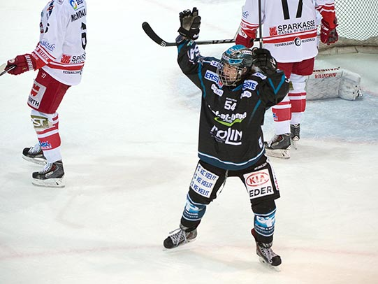 01.02.2015 EHC Liwest Black Wings Linz - HCB Suedtirol