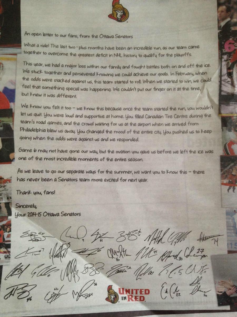 ottawa letter