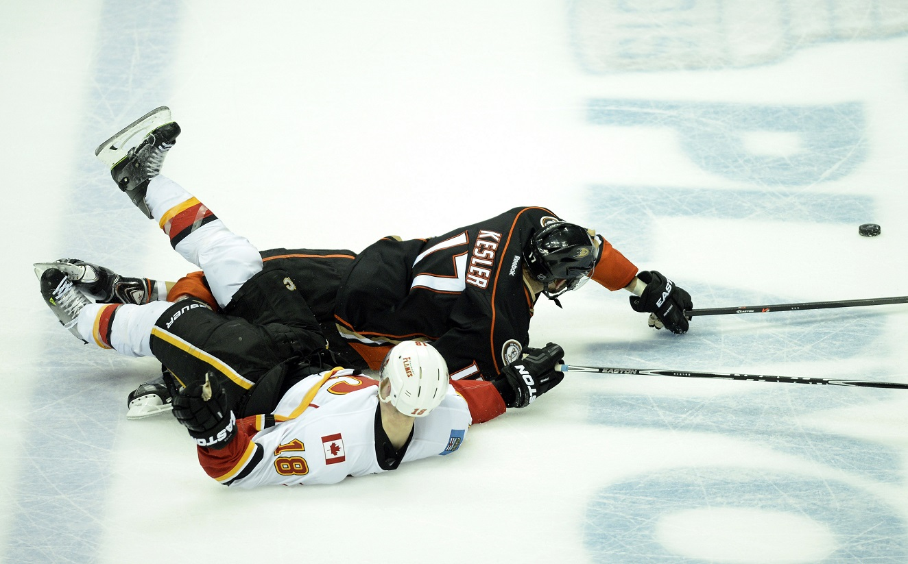 NHL: Stanley Cup Playoffs-Calgary Flames at Anaheim Ducks