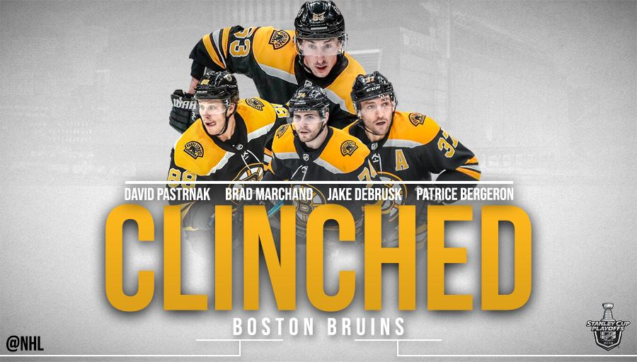 clinched  boston