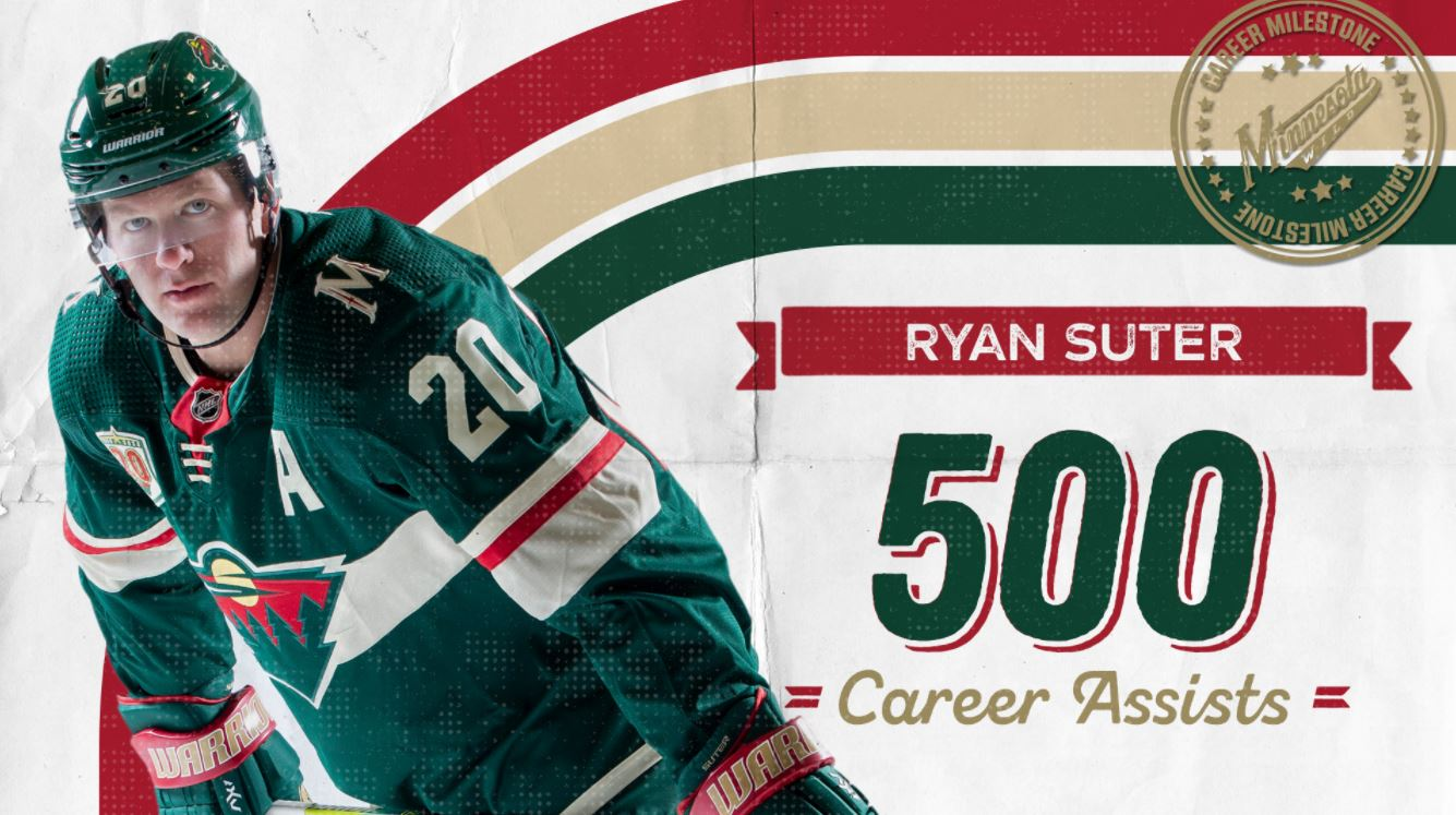 suter 500th assists